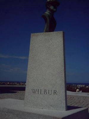 Bust of Wilbur Wright at the Wright Brothers National Memorial image. Click for full size.