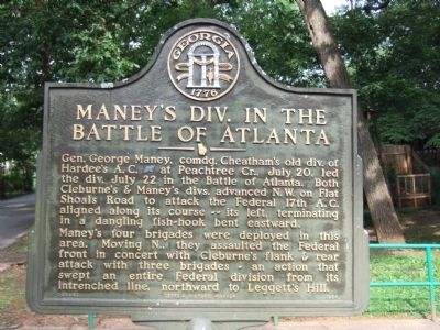 Maney's Div. in the Battle of Atlanta Marker image. Click for full size.