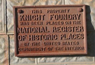 Knight Foundry National Register of Historic Places marker image. Click for full size.