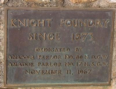 Smaller Plaque Under the Main Marker image. Click for full size.