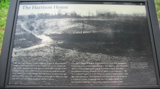 The Harrison House Marker image. Click for full size.