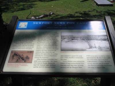 Newport News POW Camp Marker image. Click for full size.