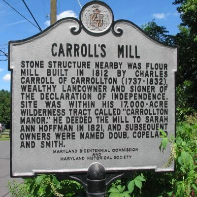 Carroll's Mill Marker image. Click for full size.