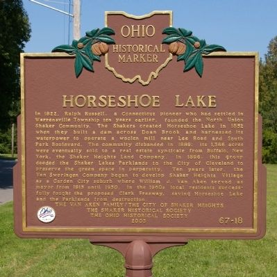 Horseshoe Lake Marker image. Click for full size.