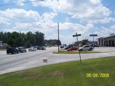 View of Wade Hampton Blvd. from Camp Sevier Marker looking South image. Click for full size.