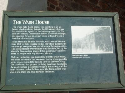 The Wash House Marker image. Click for full size.
