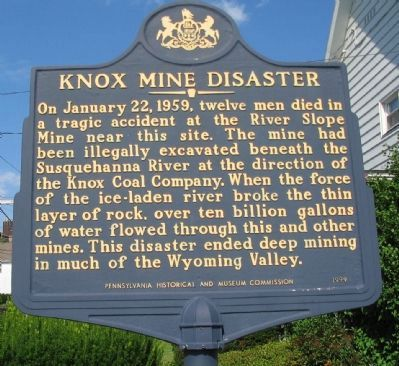 Knox Mine Disaster Marker image. Click for full size.