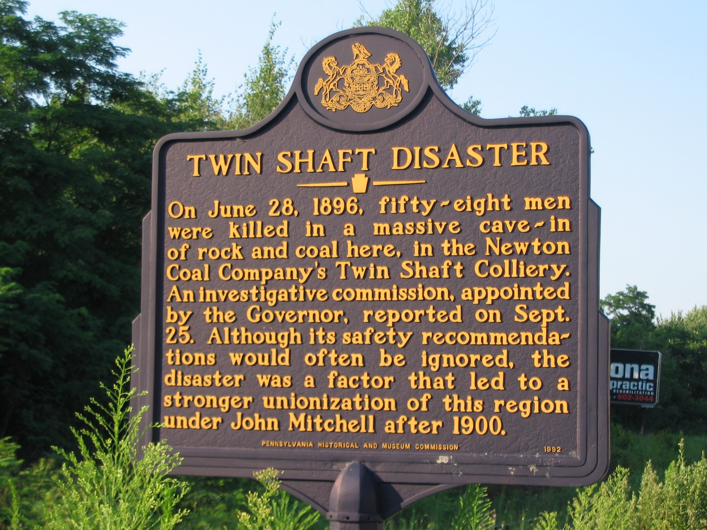 Twin Shaft Disaster Marker