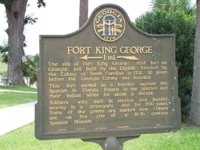 Fort King George Marker image. Click for full size.