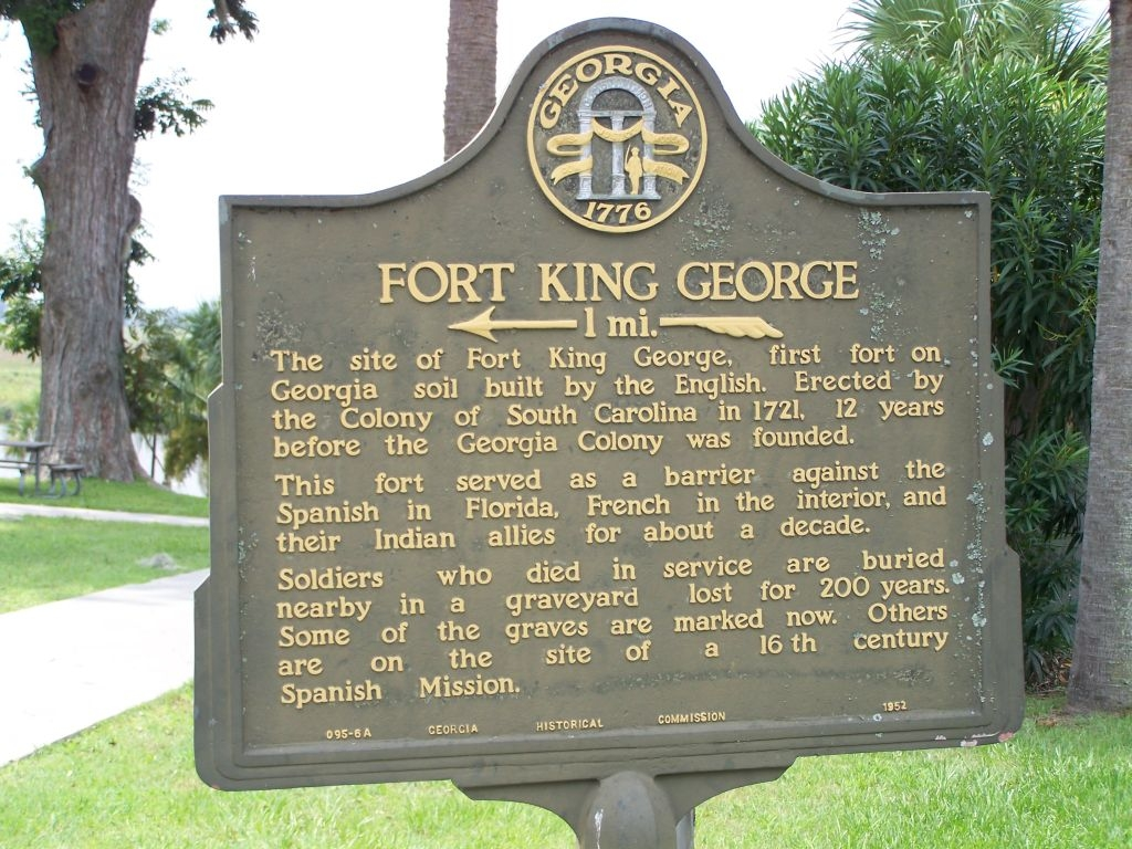 Fort King George Marker