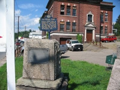 Pittston Fort State and DAR Markers image. Click for full size.