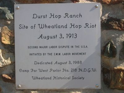 Durst Hop Ranch Marker image. Click for full size.