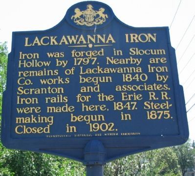 Lackawanna Iron Marker image. Click for full size.