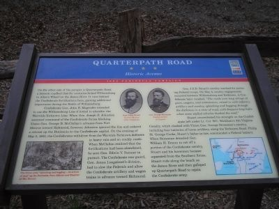 Quarterpath Road Marker image. Click for full size.