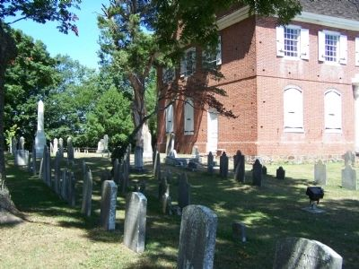 Old Drawyers Presbyterian Church and cemetery image. Click for full size.