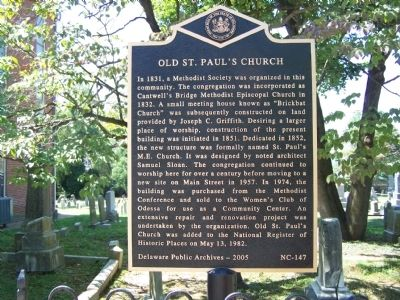 Old St. Paul's Church Marker image. Click for full size.