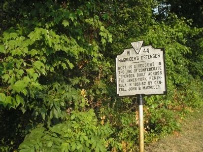 Marker on Pocahontas Trail image. Click for full size.
