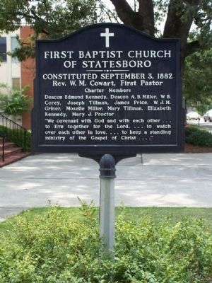 First Baptist Church of Statesboro Marker image. Click for full size.