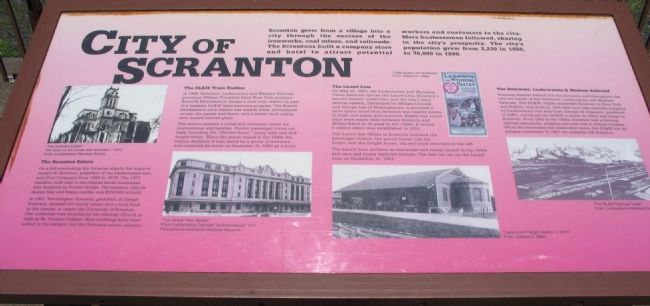 City of Scranton Marker image. Click for full size.