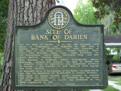 Site of Bank of Darien Marker image. Click for full size.