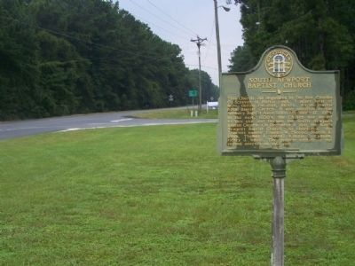 South Newport Baptist Church Marker, looking north on US 17 image. Click for full size.