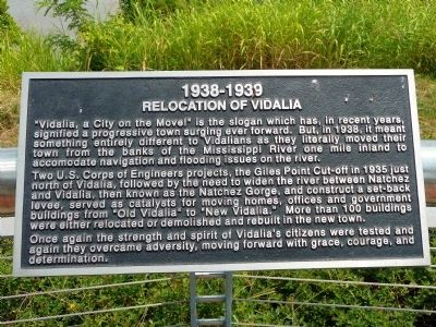 Relocation of Vidalia Marker image. Click for full size.