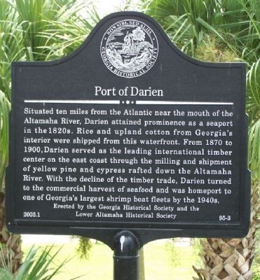 Port of Darien Marker image. Click for full size.