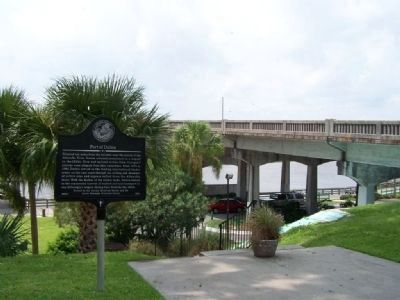 Port of Darien Marker, US 17 Altamaha River Bridge image. Click for full size.