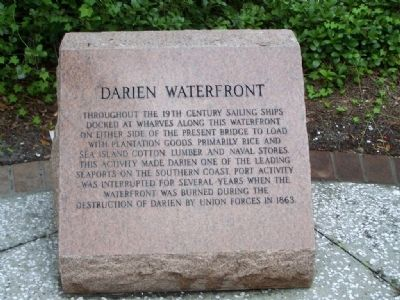 Darien Waterfront Marker image. Click for full size.