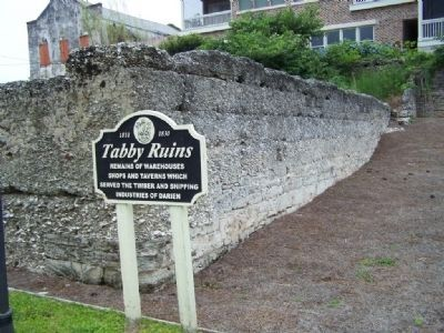 Tabby Ruins Marker near Darien Waterfront Marker image. Click for full size.