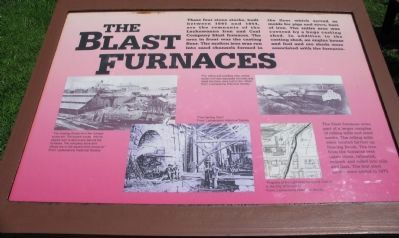 The Blast Furnaces Marker image. Click for full size.