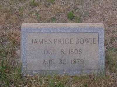 Tombstone for James Price Bowie - Eli Bowie's First Son image. Click for full size.