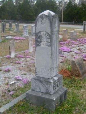 Tombstone for Asa Bowie -<br>Eli Bowie&#39;s Fourth Son image. Click for full size.