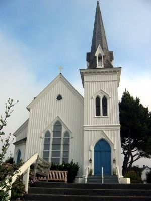 Mendocino Presbyterian Church image. Click for full size.