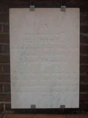 Tombstone for Eli Bowie image. Click for full size.