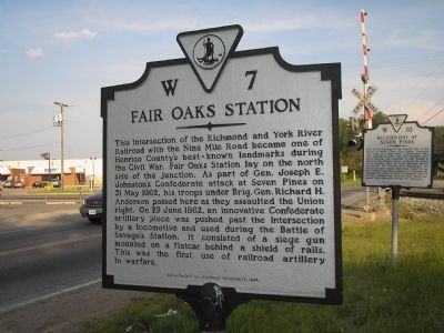 Fair Oaks Station Marker image. Click for full size.
