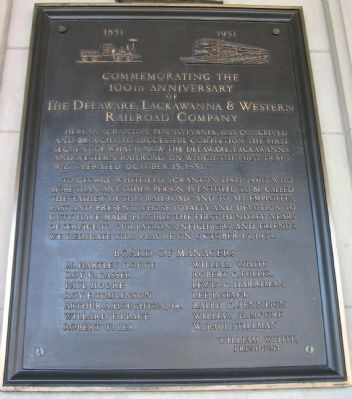 The Delaware, Lackawanna & Western Railroad Company Marker image. Click for full size.