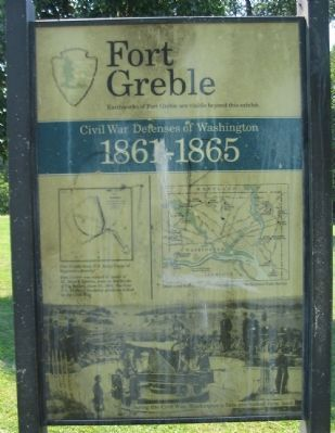 Fort Greble Marker image. Click for full size.