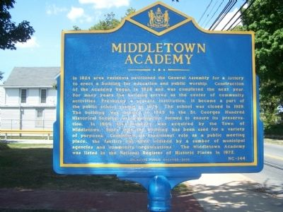 Middletown Academy Marker image. Click for full size.