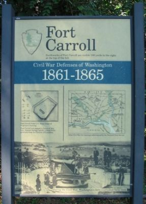 Fort Carroll Marker image. Click for full size.