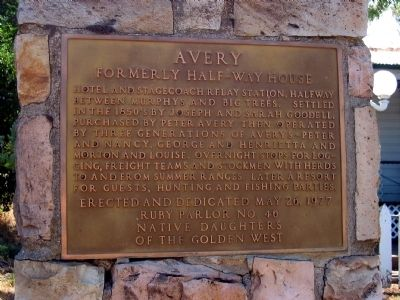 Avery Hotel Marker image. Click for full size.