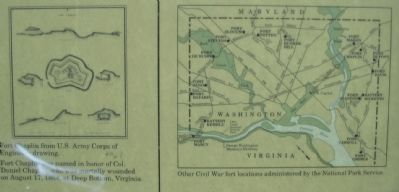 Close Up of the Fort Plan and Map of other Forts image. Click for full size.