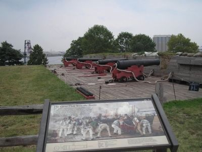 Marker with Cannons in Background image. Click for full size.