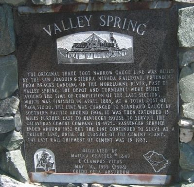 Valley Spring Marker image. Click for full size.