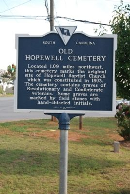 Old Hopewell Cemetery Marker image. Click for full size.