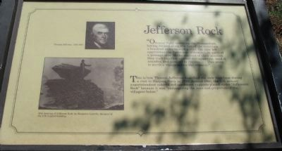 Jefferson Rock Marker image. Click for full size.