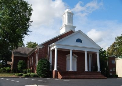 Hopewell Baptist Church (1949) -<br>North (Front) Facade and Portico image. Click for full size.