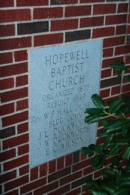 Hopewell Baptist Church Cornerstone image. Click for full size.