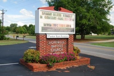 Hopewell Baptist Church Sign image. Click for full size.
