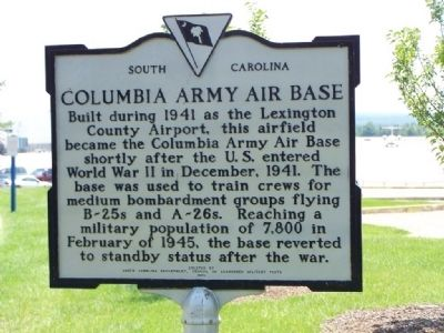 Columbia Army Air Base Marker image. Click for full size.